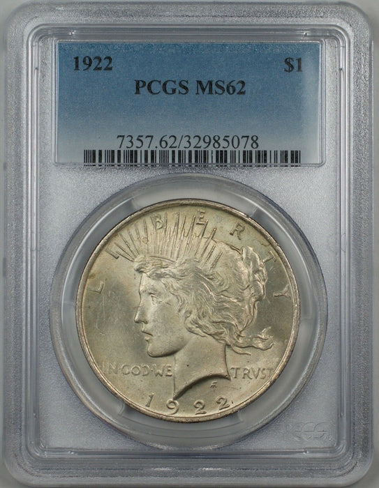192 Silver Peace Dollar $1 PCGS MS-62 5A