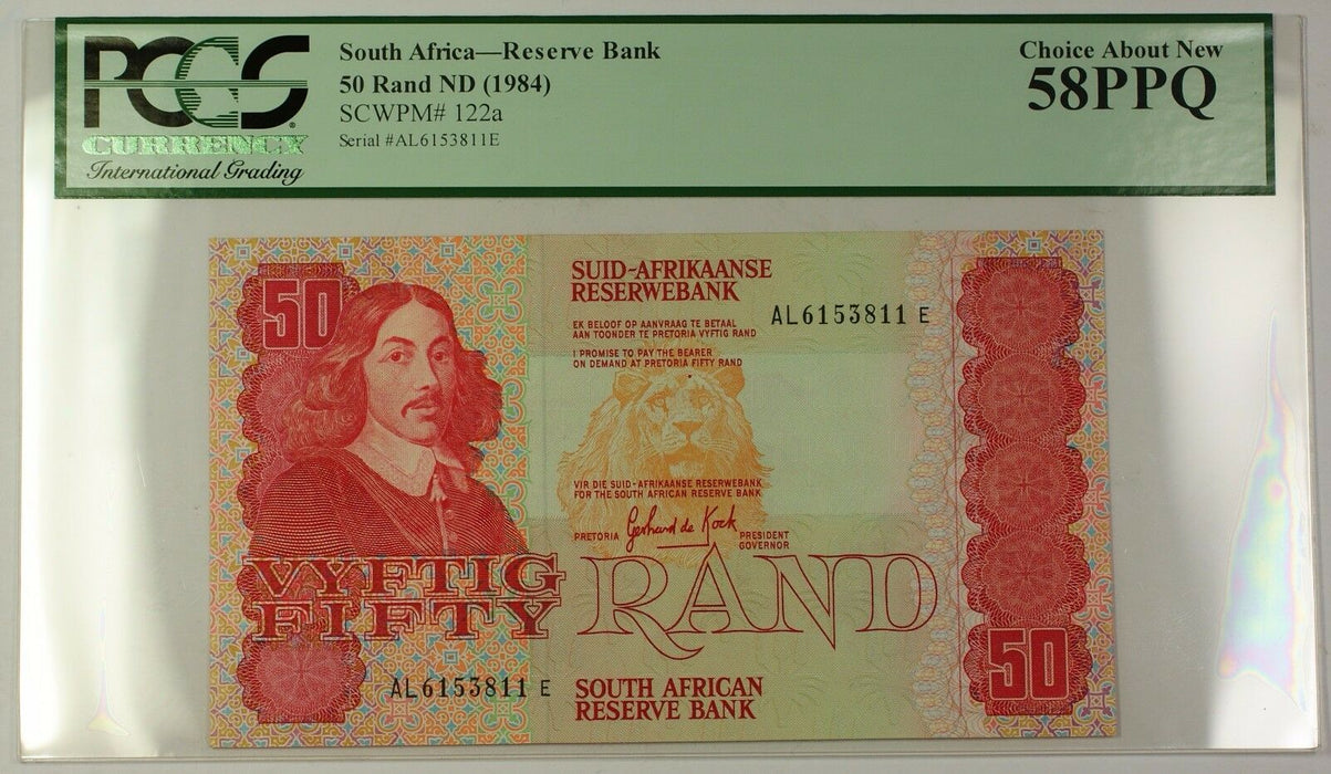 (1984) No Date South Africa 50 Rand Bank Note SCWPM# 122a Choice 58 PPQ (B)