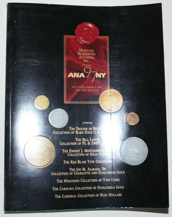 1997 ANA Auction August New York Heritage Numismatic Auction Catalog WW3A8