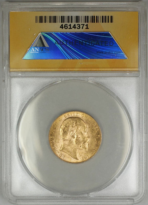 1909-P Australia Sovereign Gold Coin ANACS MS-61 (AA AMT)