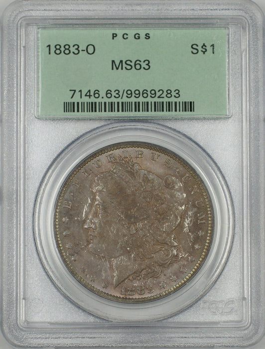 1883-O Morgan Silver Dollar $1 Coin PCGS MS-63 Toned OGH (Proof-Like) (Ta)