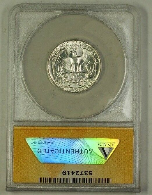1964 Washington Silver Quarter Coin Type B Rev FS-901 ANACS MS-63 (Better)