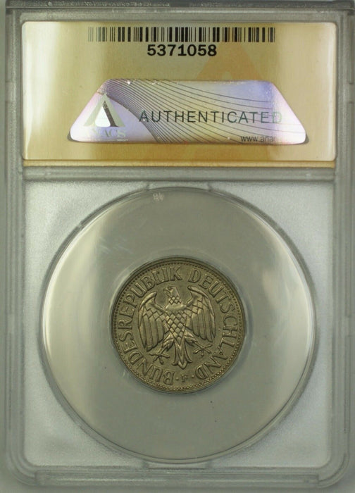 1954-F West Germany 1M One Mark Coin ANACS AU-58