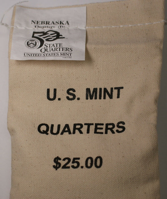 $25 (100 UNC coins) 2006 Nebraska - D State Quarter Original Mint Sewn Bag