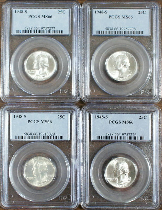 1948-S Silver Washington Quarter, PCGS MS-66, *PRICE FOR ONE COIN ONLY*