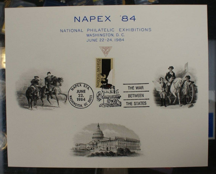 F 1984A Napex 1984 US Capitol two vignettes Washington on horse Show cancelled