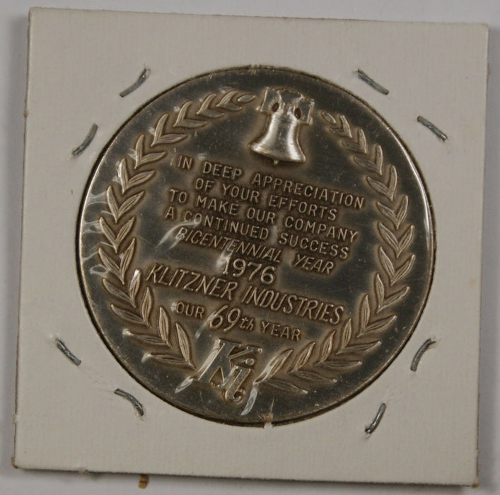 "Pure Silver Medal approx. 0.8 ozt of .999 ""Spirit of '76"" From the Klitzner Co."