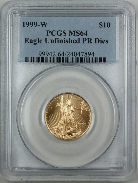 1999-W $10 American Gold Eagle, PCGS MS-64 Emergency Issue