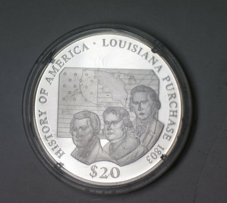 2000 Republic of Liberia Louisiana Purchase Fine Silver $20 Dollars Proof Coin