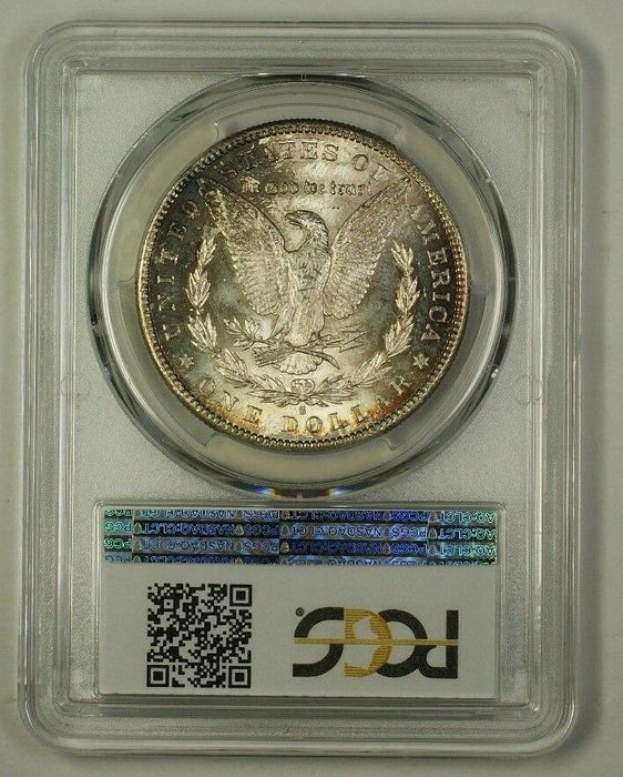 1886-S US Morgan Silver Dollar Coin $1 PCGS MS-62 Toned (18)