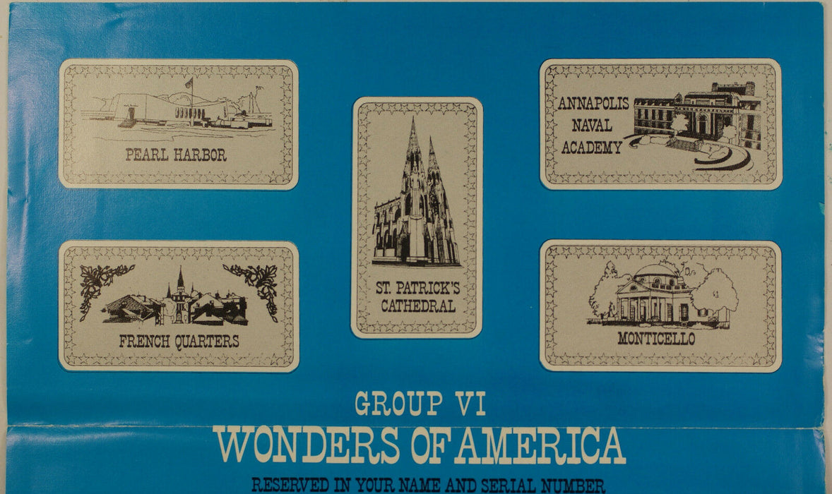Wonders of America Hamilton Mint .999 Fine 1oz Group VI Silver Ingot Collection