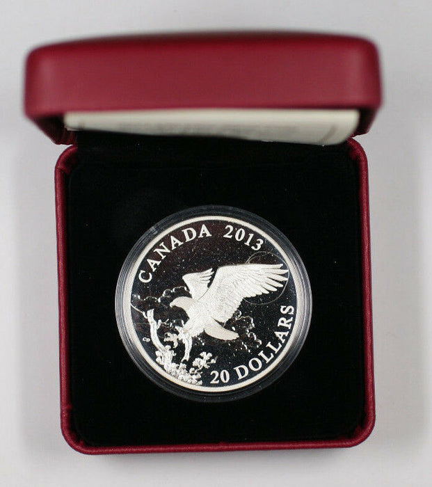 2013 Canada $20 1 Oz Fine Silver The Bald Eagle Returning From The Hunt