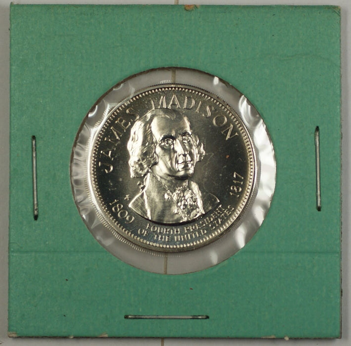 James Madison Presidential Commemorative Sterling Silver Medalette