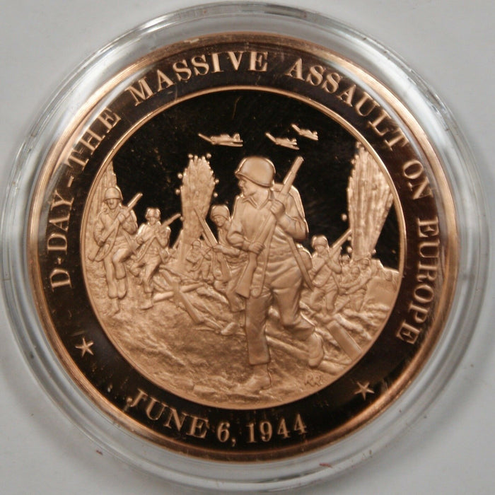 Bronze Proof Medal D-Day the Massive Assault on Europe June 6, 1944