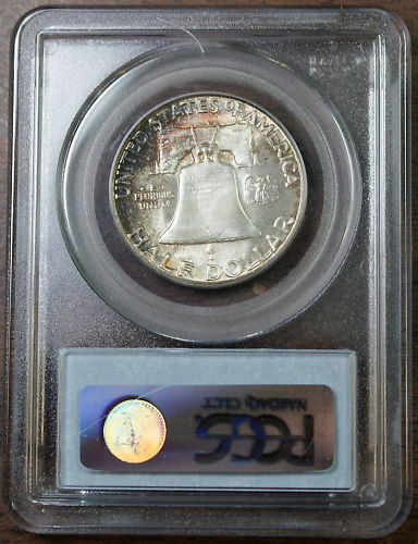 1958 Franklin Silver Half Dollar, PCGS MS-66 TONED