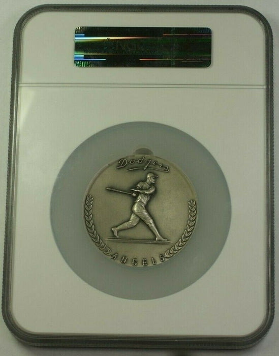 1962 Large Silver Medal 64mm 1st Season at LA Dodgers Stadium NGC MS-64 #627