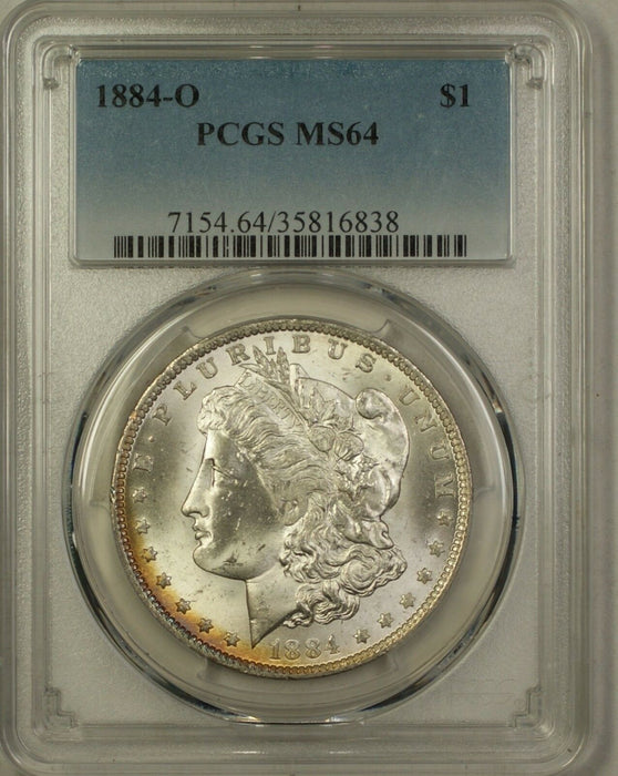 1884-O Morgan Silver Dollar $1 Coin PCGS MS-64 Lightly Toned Rim (5C)