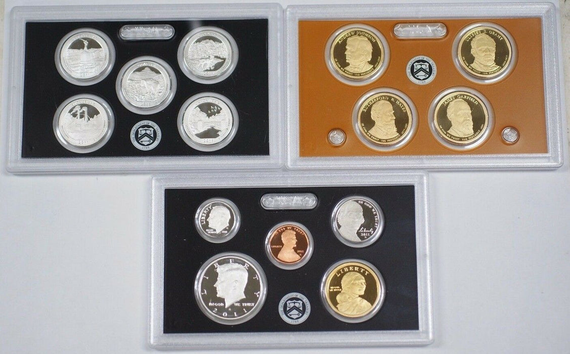 2011 US Mint Silver Proof Set Gem Coins W/ Box and COA