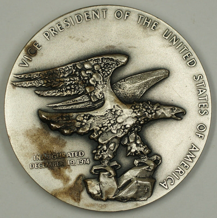 Nelson Aldrich Rockefeller Vice Presidential Large Silver Medal 5 ozt of .999