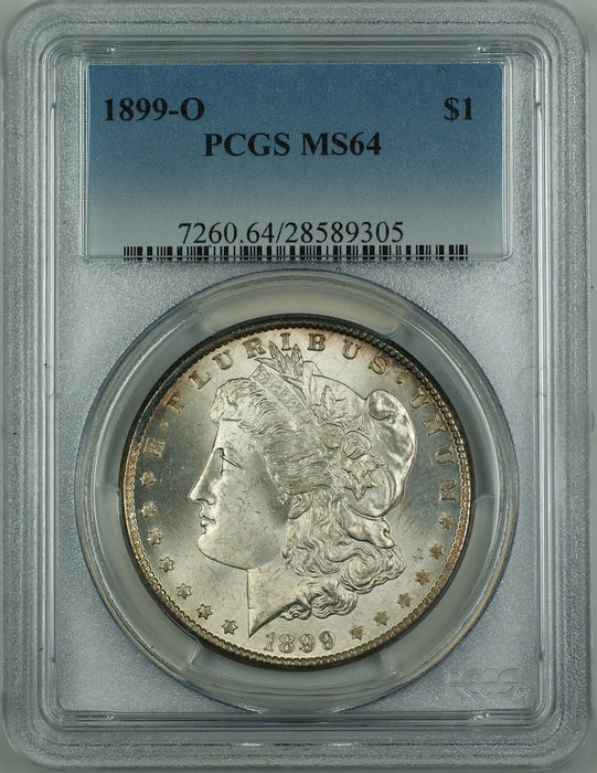 1899-O Morgan Silver Dollar Coin PCGS MS-64 (Better Coin) GF
