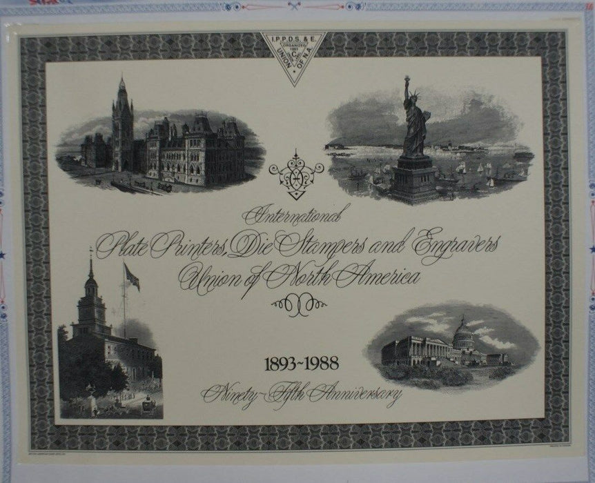 F 1988C IPPDS and EU 95th Anniversary Card Four vignettes in Black