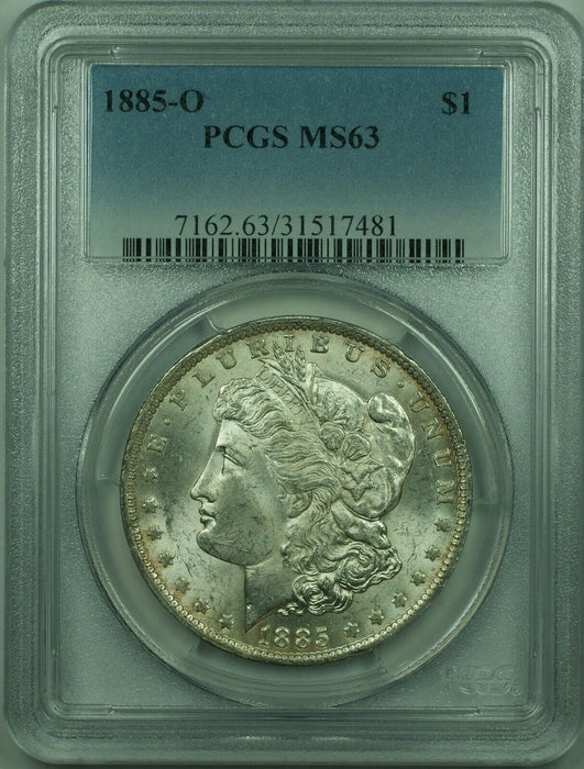 1885-O Morgan Silver Dollar S$1 PCGS MS-63 (30)