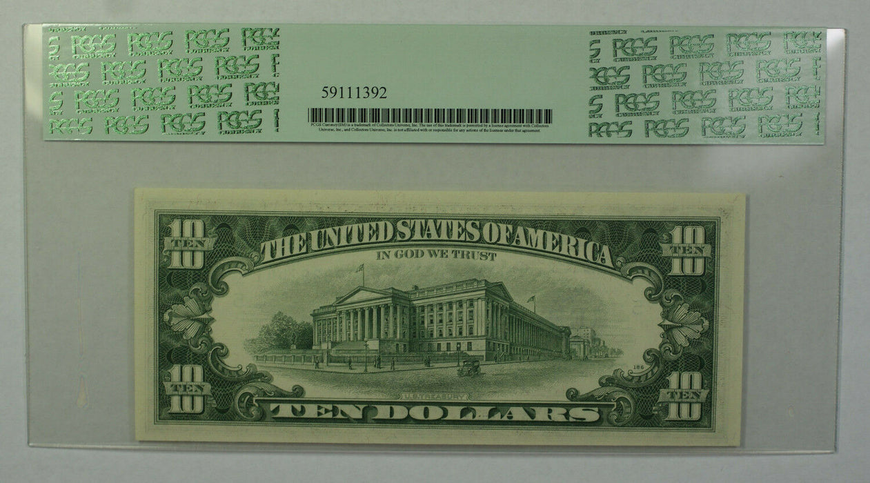 1969B $10 Bill *STAR* Federal Reserve Note FRN PCGS 63PPQ Fr. 2020-E (A)