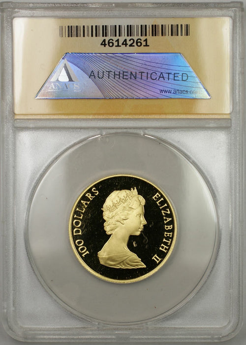 1982 Proof Canada Constitution 1/2 oz Gold Coin $100 ANACS PF-68 DCAM (AMT)