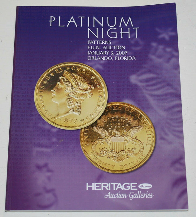 Heritage Coin Auction Catalog Platinum Night Patterns FUN January 3 2007 WW18Q