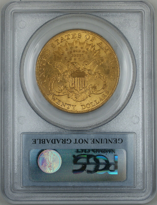 1904 $20 Liberty Gold Double Eagle, PCGS Genuine (Choice BU)