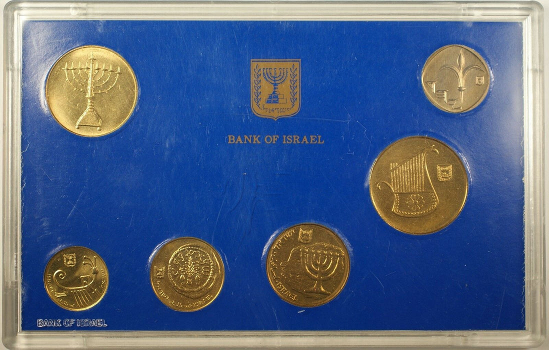 1988 Coins of Israel Official Uncirculated Hanukka Mint Set
