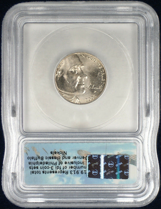 1937-2005 Buffalo Nickel ICG 3 Coin Set
