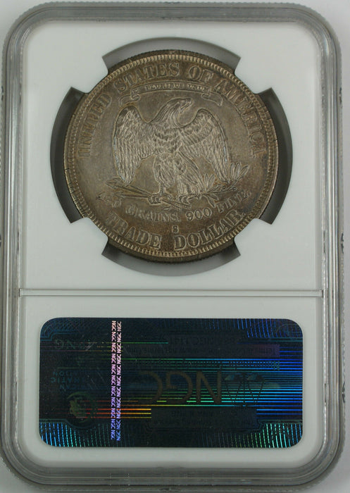 1878-S Trade Silver Dollar, NGC AU Details, High End Coin, Toned w/ PL Surfaces