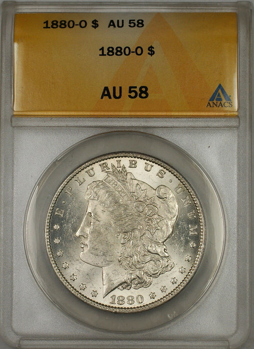 1880-O Morgan Silver Dollar $1 ANACS AU-58 (Better Coin) (6B)