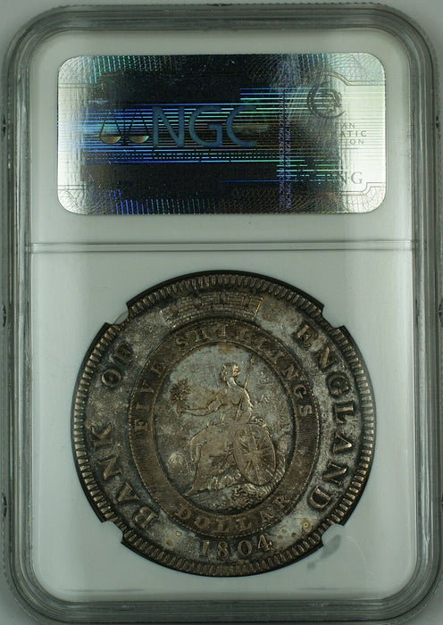 1804 Bank of England 5 Shillings Dollar ESC-149 King George III NGC VF Det. AKR