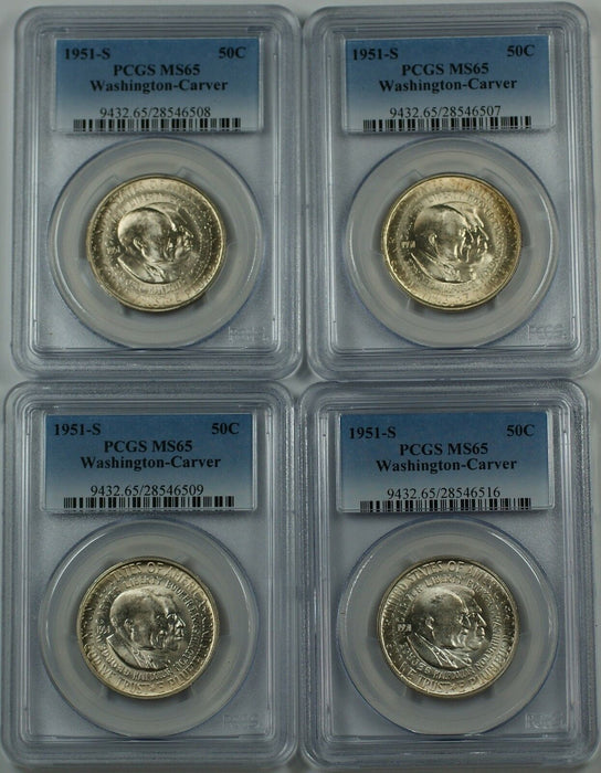 1951-S Washington-Carver Silver Half 50c PCGS MS-65