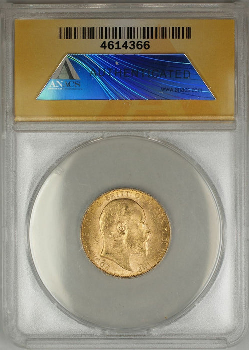 1909-P Australia Sovereign Gold Coin ANACS MS-62 (K AMT)