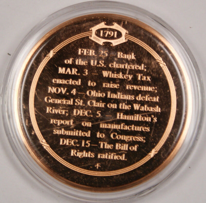 Bronze Proof Medal Bill of Rights Guarantees Individual Freedoms Dec 15 1791