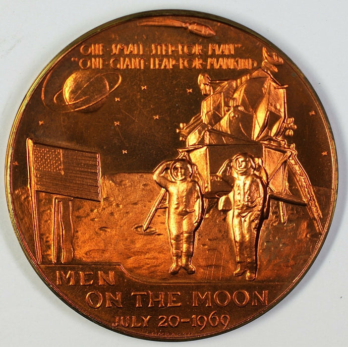 Apollo XI Bronze Medal Men On The Moon 1969 Aldrin Armstrong Collins