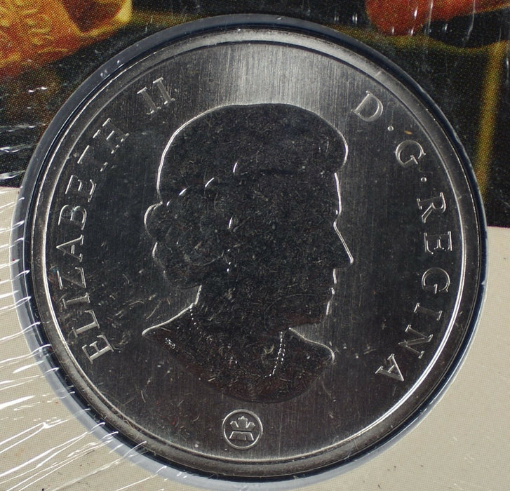 2007 60th Wedding Anniversary of the Queen Canadian 25 Cent Commem Coin