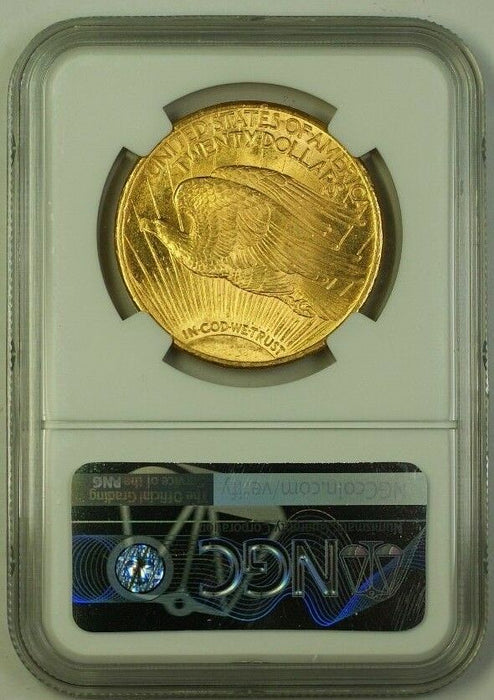 1924 US St. Gaudens $20 Double Eagle Gold Coin NGC MS-64 A