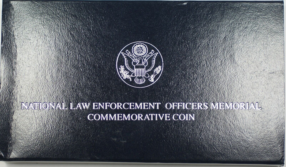 1997 US Mint Law Enforcement Memorial UNC Silver Dollar Commem Coin in OGP DGH