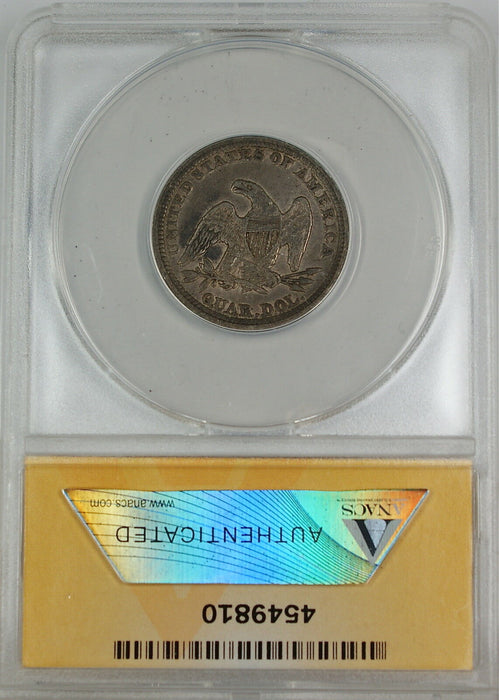 1854 Seated Liberty Silver Quarter, ANACS EF-40, Details - Corroded - Scratched