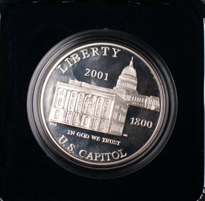 2001 Capitol Visitor Center Commemorative Proof Silver Dollar $1 Coin No COA