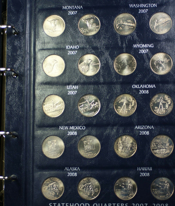 1999-2008 United States Quarters 50 Coins BU Set Beautiful American Shield Case