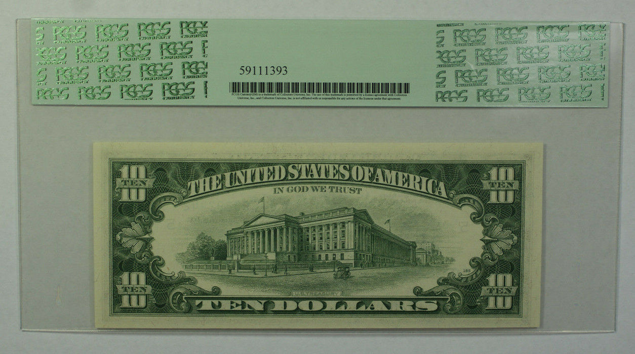 1969B $10 Bill *STAR* Federal Reserve Note FRN PCGS 63PPQ Fr. 2020-E (B)
