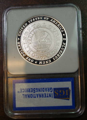 2006 Franklin Founding Father Silver Dollar, Gem Proof