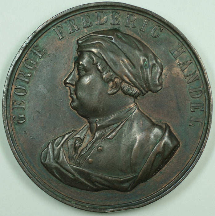 1859 George Frederic Handel Centenary Comm. Crystal Palace 51mm Bronze Medal