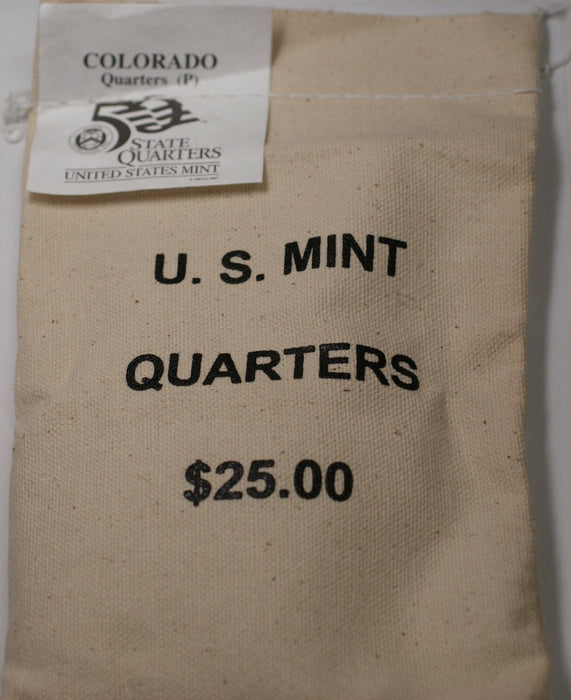 $25 (100 UNC coins) 2005 Colorado - P State Quarter Original Mint Sewn Bag