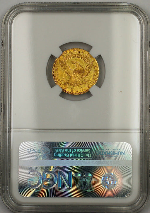 1825 $2.50 Quarter Eagle Gold Coin NGC UNC Details Rev Spot Removed *Very Rare*